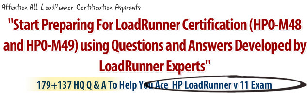 hp0 m48 and hp0 m49 loadrunner certification mock papers learn